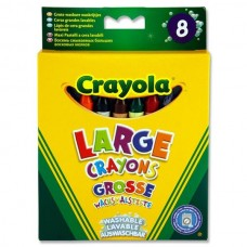 Z: Crayola 8 Large Crayons Assorted