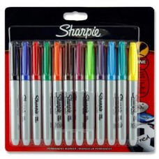Z:Markers Sharpie 12 Assorted Fine