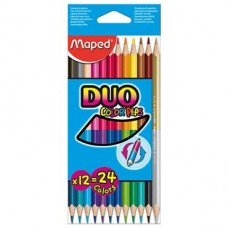 Z: Pencils Two Colour 12 Pack