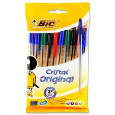 Z: 10 pack Bic Ballpens Assorted
