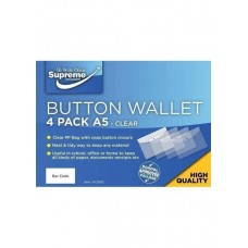 Z: Button Wallets A5 4 Pack Clear