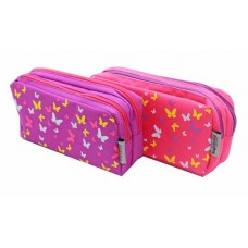 Z: Pencil Case Double Zip Butterfly