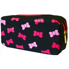 Z: Pencil Case Double Zip Pink Ribbon