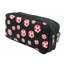 Z: Pencil Case Double Football Black