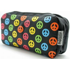 Z: Pencil Case Double Zip Peace Sign