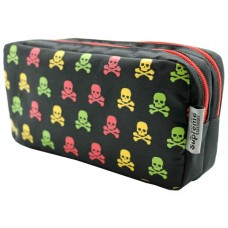 Z: Pencil Case Double Zip Skulls