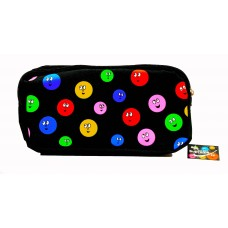 Z: Pencil Case Double Zip Smiley Face